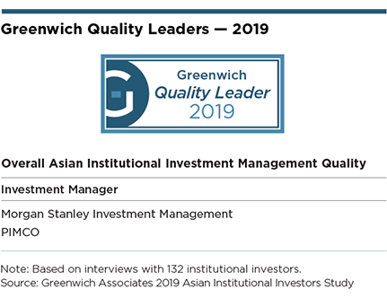 Greenwich Quality Leaders - 2019 Overall Asian Institutional Investment Management Quality