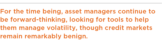 For the time being, asset managers continue to be forward-thinking