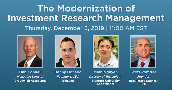 The Modernization of Investment Research Management, Speakers